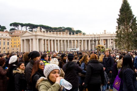 Waiting for the pope to recite the weekly Angelus prayer