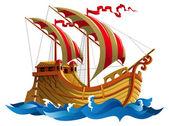 Постер Корабль в море