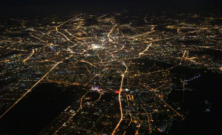 Photo for Aerial view of Moscow at night - Royalty Free Image