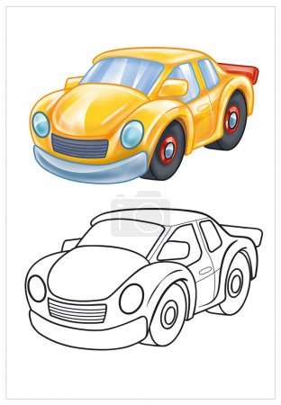 Coloring of yellow car