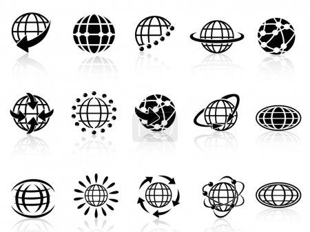 Illustration for Isolated globe icons on white background - Royalty Free Image