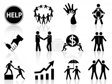 Illustration for The concept of business help icons - Royalty Free Image