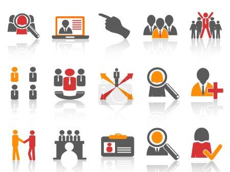 Job and human resource Icons set