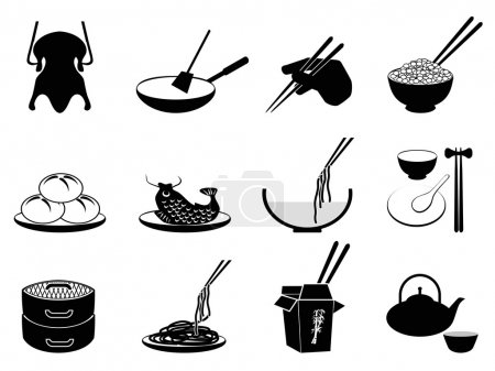 Chinese food icons