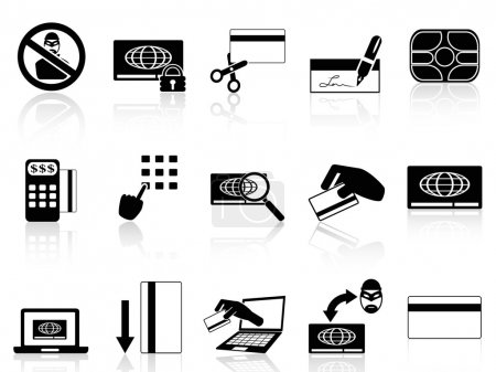 Illustration for Isolated credit card concept icons set from white background - Royalty Free Image