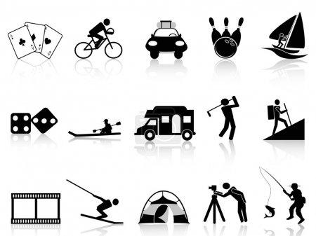 Freizeit- und Freizeitsymbole gesetzt