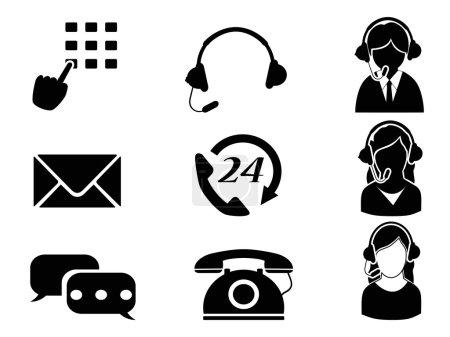 Ilustración de Icono de servicio al cliente aislado de fondo blanco - Imagen libre de derechos