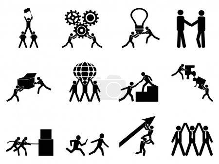 Teamwork icons set
