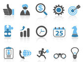 Isolated business icons setblue series from white background