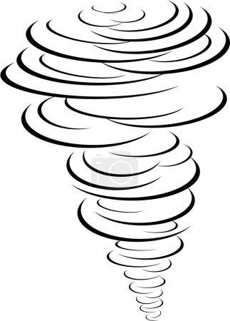 Illustration pour Symbole tornade noire - image libre de droit