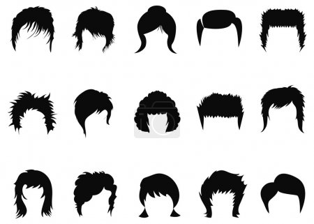 Men and women hair styling collection beauty salon...