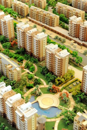 real estate Building model