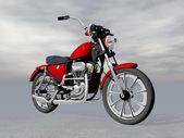 Červená motorka - 3d vykreslení