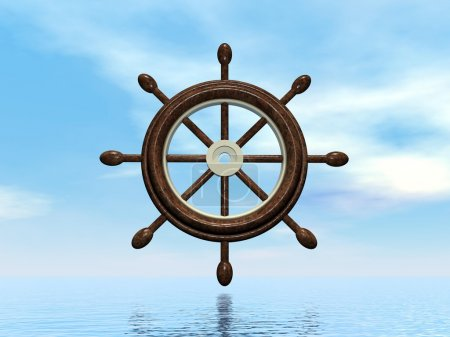 Ship wheel - 3D render