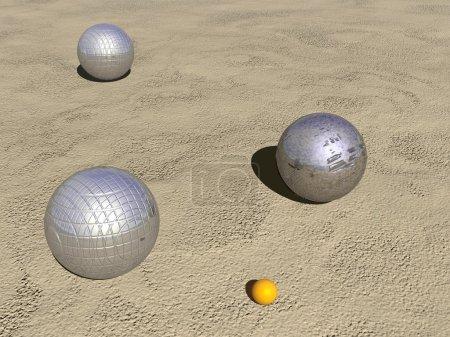 Petanque game balls - 3D render