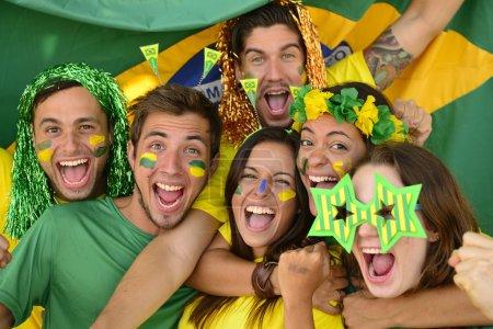 Brazilian sport soccer fans amazed