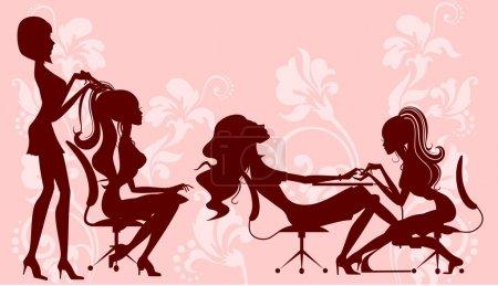 Illustration pour Salon de beauté - image libre de droit