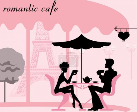 Illustration for Romantic cafe - Royalty Free Image
