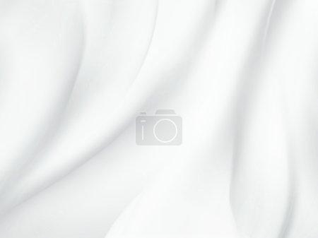 Photo pour Fond blanc abstrait avec des vagues douces - image libre de droit