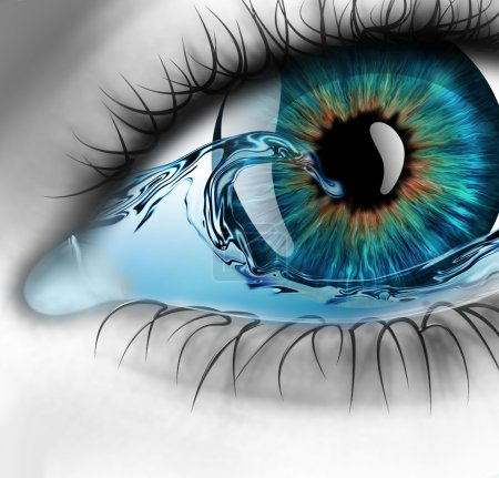 Photo for Part of the eye with water inside - Royalty Free Image