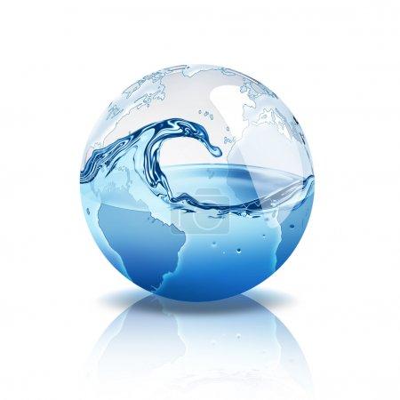 Photo pour Monde avec de l'eau à l'intérieur - image libre de droit