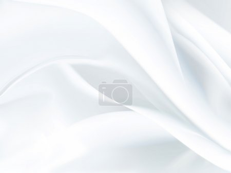 Photo for Closeup of white satin fabric as background - Royalty Free Image