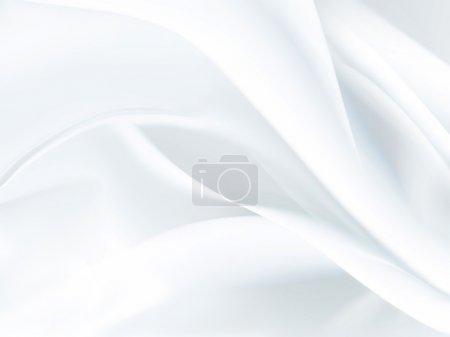 Foto de Primer plano de tela de satén blanco como fondo - Imagen libre de derechos