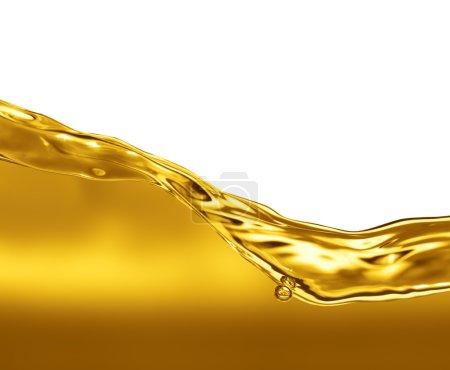 Photo pour Onde d'huile sur fond blanc - image libre de droit