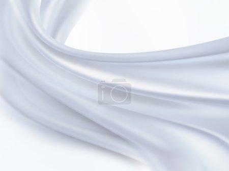 Photo pour Gros plan de tissu de soie blanc comme toile de fond - image libre de droit