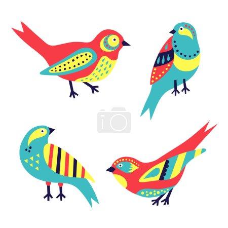 Illustration pour Ensemble d'oiseaux - image libre de droit