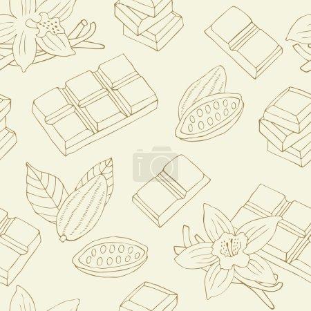 Chocolate seamless pattern