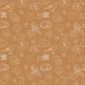 Cookie seamless pattern
