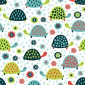 Turtle seamless pattern
