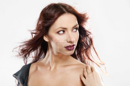 Photo for Gorgeous brunette face portrait - Royalty Free Image
