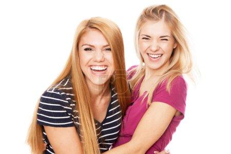 Foto de Dos amigas divirtiéndose - Imagen libre de derechos