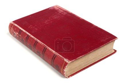 Photo pour Livre rouge isolé sur fond blanc - image libre de droit