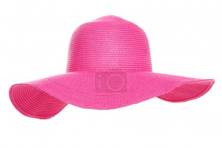 Photo for Summer beach hat isolated on white background - Royalty Free Image