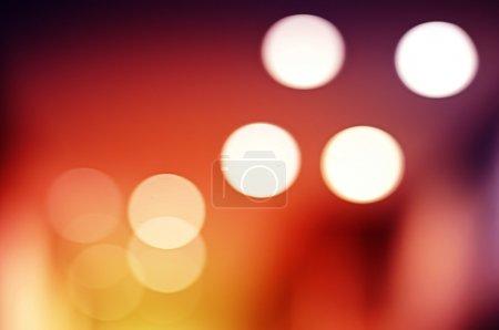 Photo pour Lumières, lampes intérieures floues aux couleurs chaudes - image libre de droit
