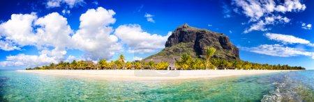 Mauritius beach panorama