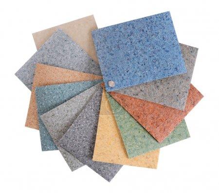 Flooring samples.