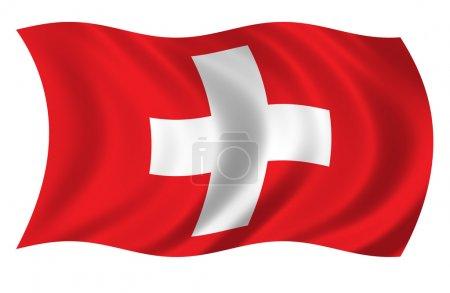 Photo pour Drapeau de la Suisse - image libre de droit