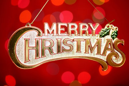 Christmas letter with abstract background