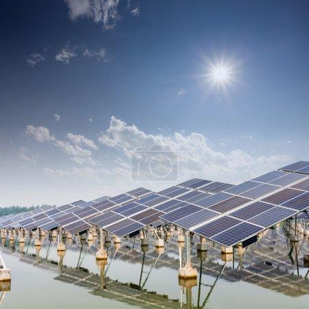 Foto de Paneles de energía solar en China - Imagen libre de derechos