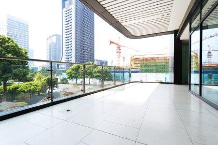 corridor of modern office building