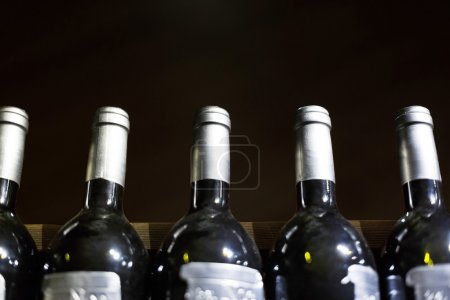 Photo for Wine cellar full of wine bottles - Royalty Free Image