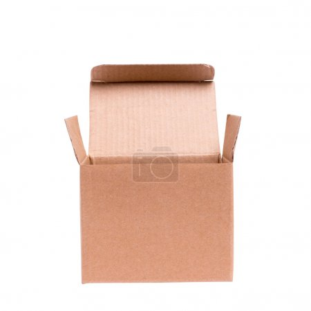 Photo for Opened cardboard box on a white background - Royalty Free Image