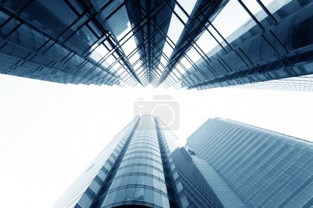 Photo for Modern glass silhouettes of skyscrapers in the city - Royalty Free Image
