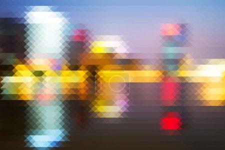 Abstract pixel background defocus
