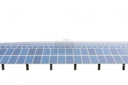 Solar panels isolated on white background.