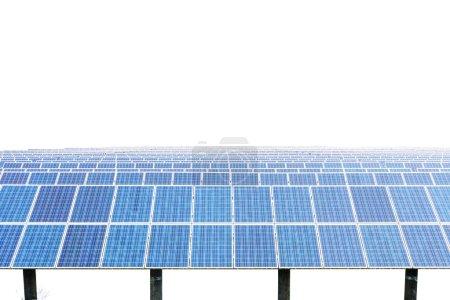 Solar panels isolated on white background.
